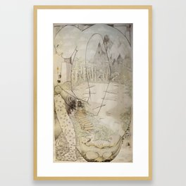 L'homme du fond des ages  Framed Art Print