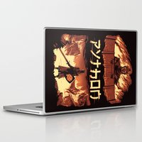 monty python Laptop & iPad Skins featuring Attack on Python by Dave Collinson
