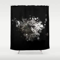 einstein Shower Curtains featuring Albert Einstein by Rene Alberto