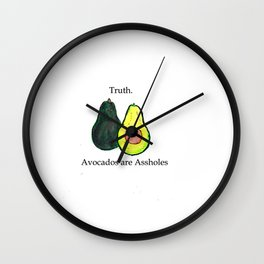 Truth: Avocados are Assholes Wall Clock