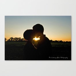 Sunset of Love Canvas Print