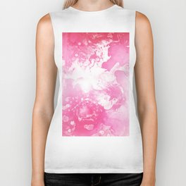 Pink Water Swirl Biker Tank