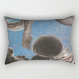 Floating Nude in Gray Rectangular Pillow