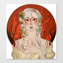 Okami: Amaterasu Canvas Print