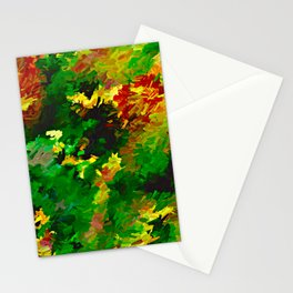Emerald Forms Abstract Stationery Cards