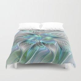 Abstract Butterfly, Fantasy Fractal Art Duvet Cover