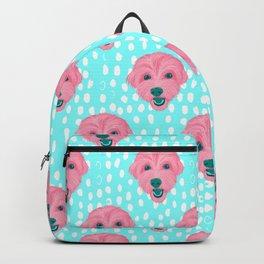 havanese - aqua pattern Backpack