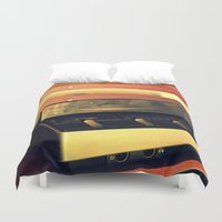 record Duvet Covers featuring record player by gzm_guvenc