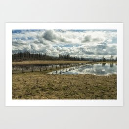 Bridge Over Sky Art Print