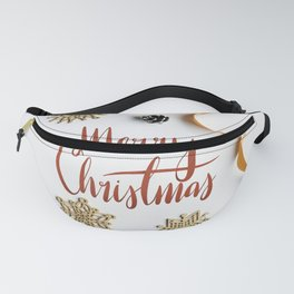 Creative Crafty Modern Christmas Holiday Greeting Fanny Pack