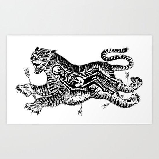 Tiger Skull Art Print