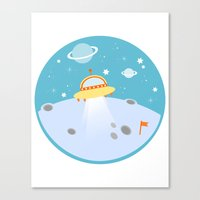 outer space Canvas Prints featuring Outer Space by Limitation Free
