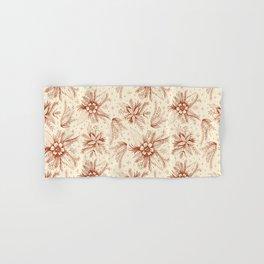 red sketchy floral pattern Hand & Bath Towel