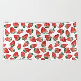 Strawberry Love Beach Towel
