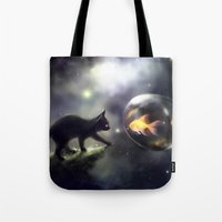 the thing Tote Bags featuring mutual thing by apofiss