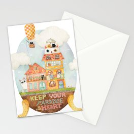 Keep your paradise in your heart Stationery Cards