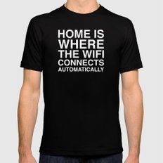 Home Black Mens Fitted Tee MEDIUM