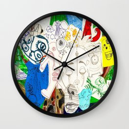 Collage 17 Wall Clock