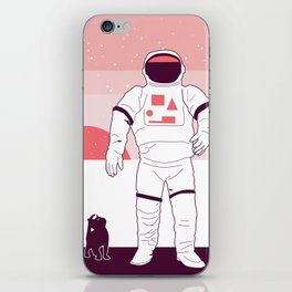 The Astronaut and the Cat iPhone Skin