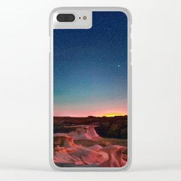 Bisti Badlands Hoodoos Under New Mexico Stary Night Clear iPhone Case