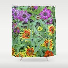 Flower Jamboree Shower Curtain