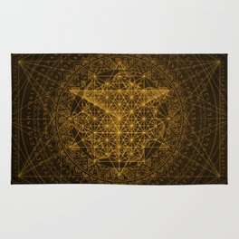 Dark Matter - Gold - By Aeonic Art Rug