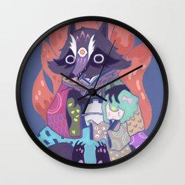 Tanukikitsune Wall Clock
