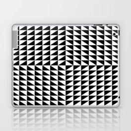 Optical illusion noir blanc triangle Laptop & iPad Skin