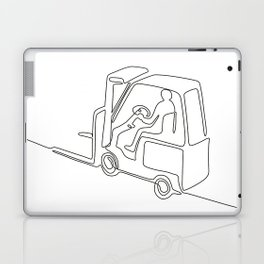 Forklift Truck Continuous Line Laptop & iPad Skin