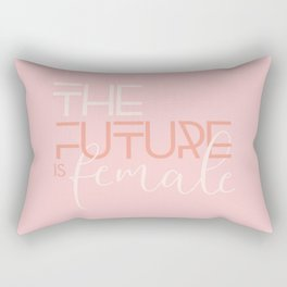 The Future is Female Rectangular Pillow