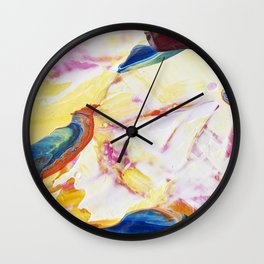 Abstraction - Piece of warm - by LiliFlore Wall Clock