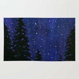 Twinkle, Twinkle, Stars Night Sky Painting Rug