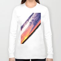 swedish Long Sleeve T-shirts featuring Swedish midsummer sky by Ordiraptus