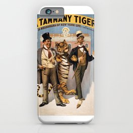Vintage Poster - A Tammany Tiger iPhone Case