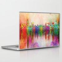 london Laptop & iPad Skins featuring london by mark ashkenazi