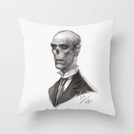 Portrait of a Ghost Throw Pillow