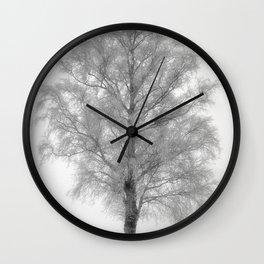 Birch in winter Wall Clock