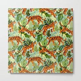 Bright Bengal Tiger Jungle Metal Print