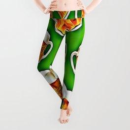 Beers forever-Green Leggings