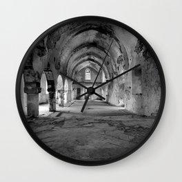 A derelict churh in Northern Cyprus Wall Clock