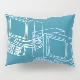 Blue Computer Pillow Sham