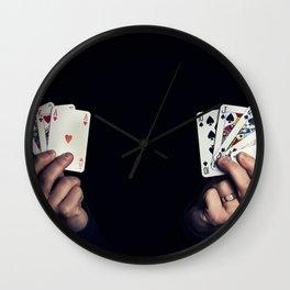 hearts vs spades Wall Clock