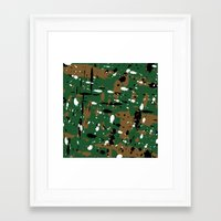 camo Framed Art Prints featuring camo by Panic Junkie