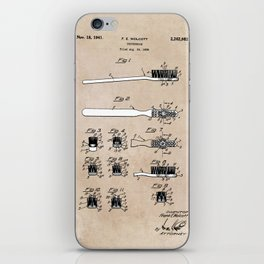 patent art Wolcott Toothbrush 1938 iPhone Skin