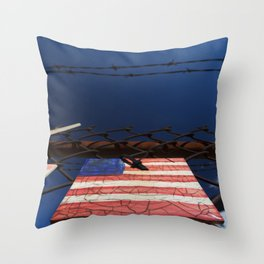 have you got a flag ? usa stars and stripes tile Throw Pillow