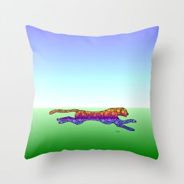 Steampunk Cheetah Throw Pillow