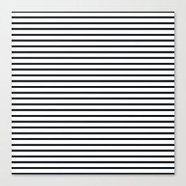 Sailor Stripes Black & White Canvas Print