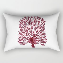 Skeleton Hawthorn Tree White Rectangular Pillow