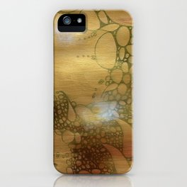 Golden Apple: Gold and White Abstract Collage iPhone Case