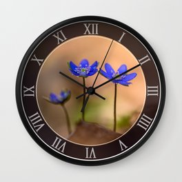 Blue Liverworts Wall Clock